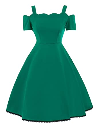 Penin Women Retro Dress 50S 60S Vintage Rockabilly Swing Feminino Vestidos Solid Spaghetti Strap Lace New