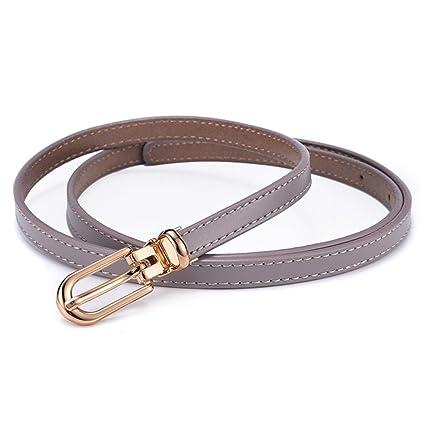 Styhatbag Cinturón de Mujer para Mujer Correa de Cuero Flaca para Mujer  Hebilla de Pin de 5b226afba3fc