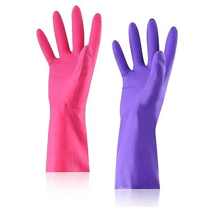 amazon com rubber latex work waterproof household gloves aikegou
