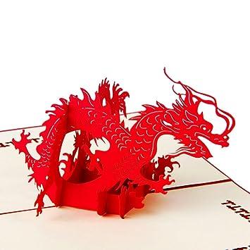 Amazon.com: heartmoon chino carillón Pop Up Tarjetas y ...