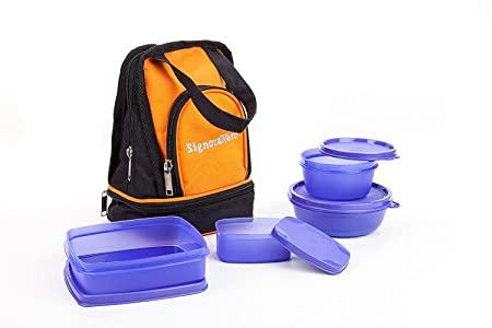 Signoraware Carry Lunch Box with Bag 4 Containers Lunch Box  950 ml