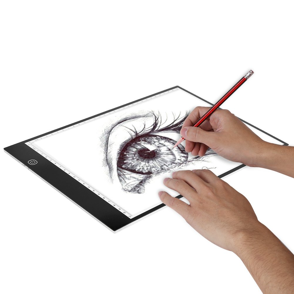 A4 LED Tracing Light Pad,Portable LED Artcraft Tracing Light Board Light Box Brightness Control with USB Power for Kids Artists Animation Sketching Drawing by Walfront