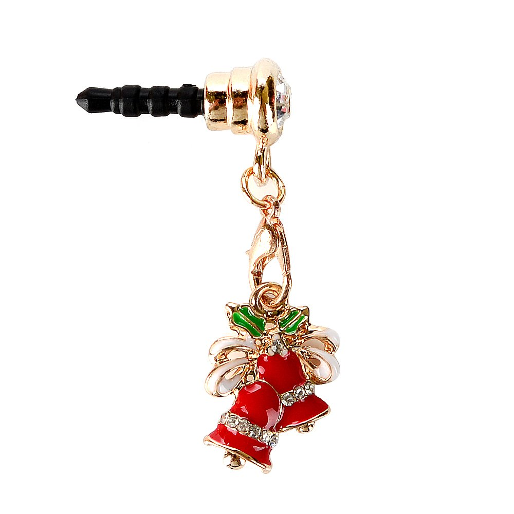 KASOS Dust Plug-Earphone Jack Accessories Bling Shiny Glitter Sparkle Diamonds Rhinestones Gems with Tassel/Cell Charms/Dust Plug/Ear Jack for iPhone 6S Plus, for Samsung Galaxy S10 Plus, for LG 3.5MM