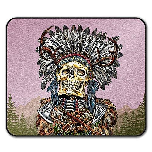[Indian Skull Skeleton Native Face Non-Slip Mouse Mat Pad 10