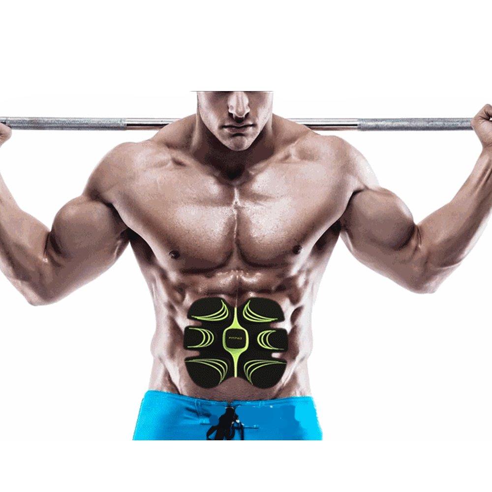 EMS腹筋トレダイエットベル 健康ビューティートレーニングフィットネスマシン ランウォーク用ウエストお腹二の腕太ももふくらはぎダイエットエクササイズ全身器具 筋トレフィットネスマシーン アブズクフィットで腹筋を刺激、肌張り締め、マッサージ 腹筋ベルトセット,ABS518   B01N9Q34EV