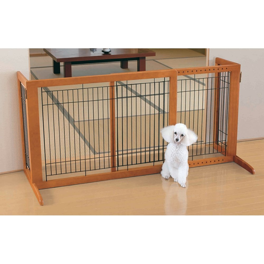 Amazon.com: Richell Wood Freestanding Pet Gate, High Large, Autumn Matte  Finish: Pet Supplies