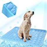 MeiLiMiYu Dog Cooling Mat, Pet Self Cooling Pad Dog Cooling Blanket Washable Ice Silk Mat for Kennels, Crates, Beds…