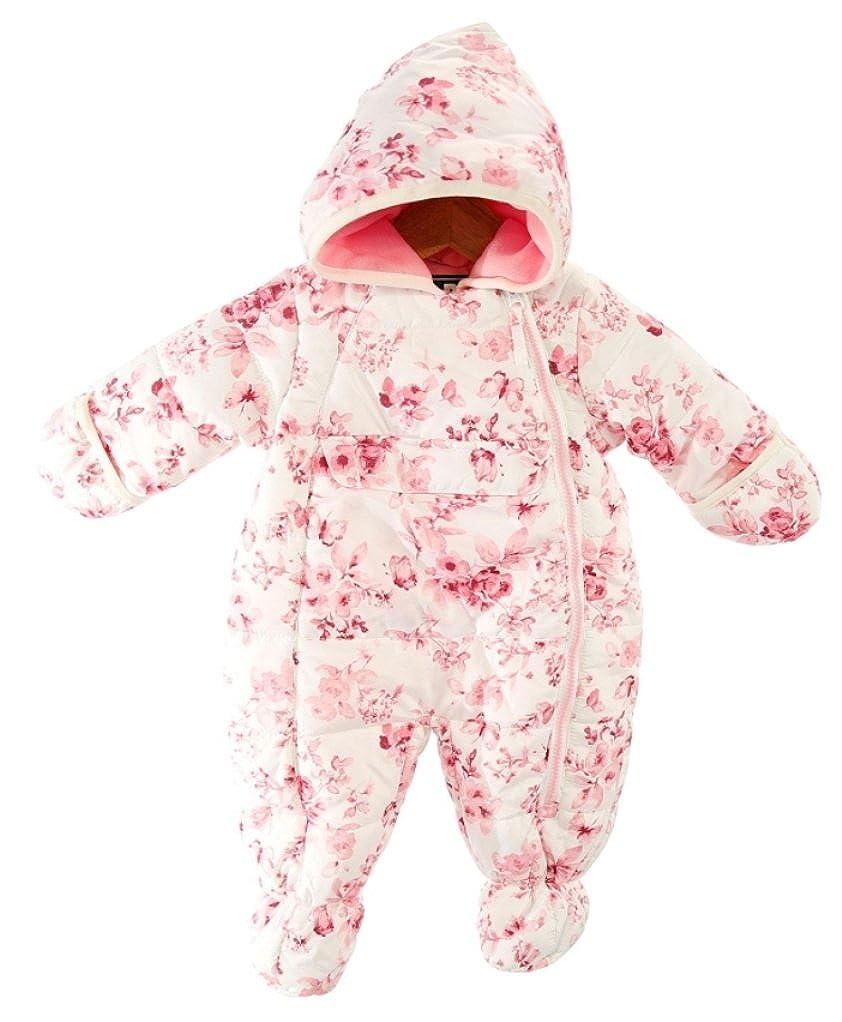 S. Rothschild Baby Girls Pink Rose Print Hooded Pram Pink Rose)