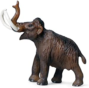 ZHUAN Mammoth Sculpture Figurine Outdoor Garden Sculpture Home Decoration Animal Model Collection Ornaments Children's Toys Gifts 14 X 4.5 X 12.5CM