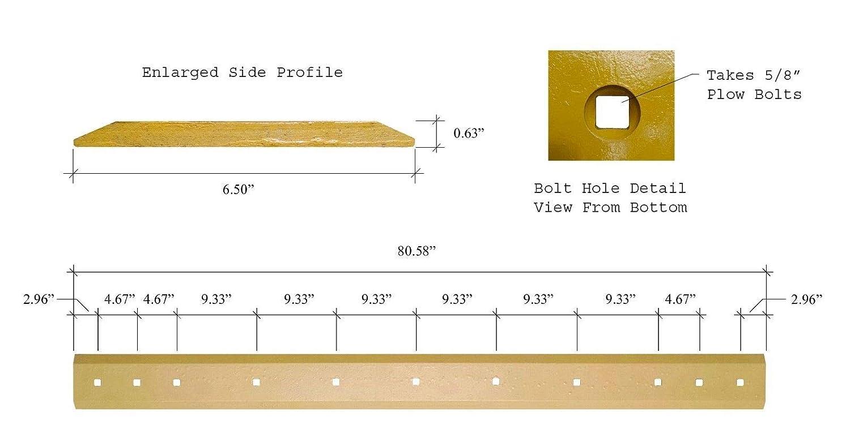 Amazon.com: Gato Skid Steer Cubo de corte borde – 80,58 x 6 ...