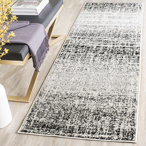 Modern Collection Runner - Safavieh Adirondack Collection ADR116B Ivory and Silver Modern Abstract Runner (2'6