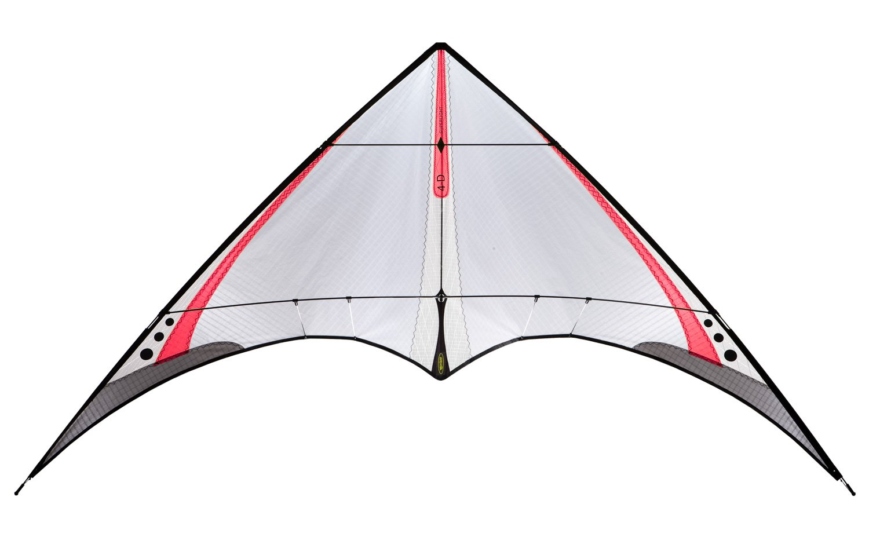 Prism 4-D Ultralight Dual-line Stunt Kite, Red