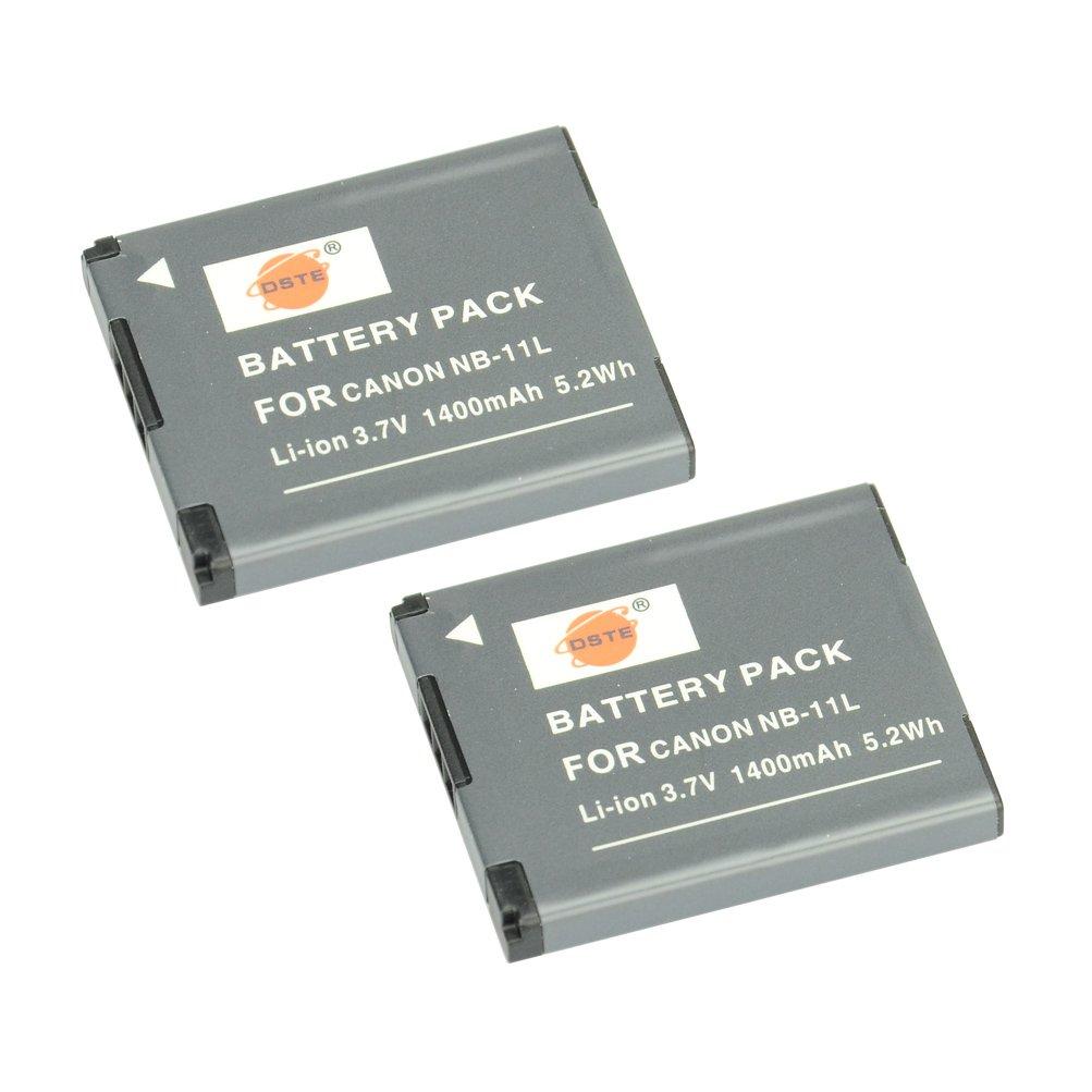 DSTE Replacement for 2X NB-11L Li-ion Battery Compatible Canon PowerShot A2400 A2500 A2600 A3400 A3500 A4000 is ELPH 320 340 350 HS IXUS 265 HS 132D 155 180 SX400 SX410 is Camera