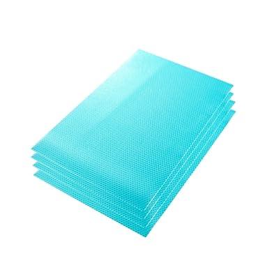 Fridge Pads, Jewelvwatchro Multifunctional Anti-bacterial, Anti-fouling, Anti-oil, Anti-frost, Waterproof Refrigerator Pads Shelves, Drawer, Table Mats (Blue)