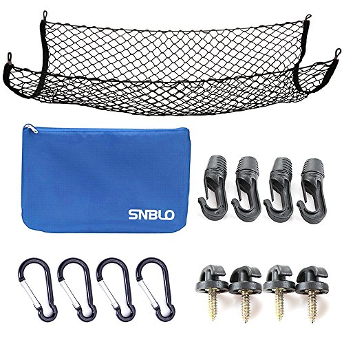 Cargo Net for SUV,Truck Bed or Trunk, 41 x 25 Inches Elastic Nylon Mesh Universal Rear Car Organizer Net, with Bonus Free Hooks by - Net Bed Cargo