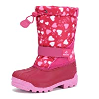 CIOR Kids Snow Boots for Boys Girls Toddler Winter Outdoor Boots Waterproof with Fur Lined(Toddler/Little Kids/Big Kid)