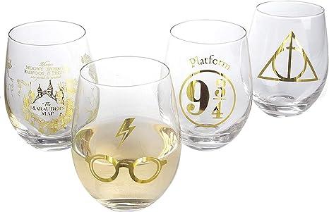 Harry Potter Stemless Wine Glasses, 17 oz