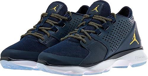Zapatillas de moda Nike JORDAN FLOW para hombre 833969-405_12 - OBSIDIAN / MTLC GOLD COIN-WHITE: Amazon.es: Zapatos y complementos