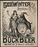 Photo: Geo Winter Brewing Company, Bock Beer, NY, billy goat, 1900 . Size: 8x10 (approximately)