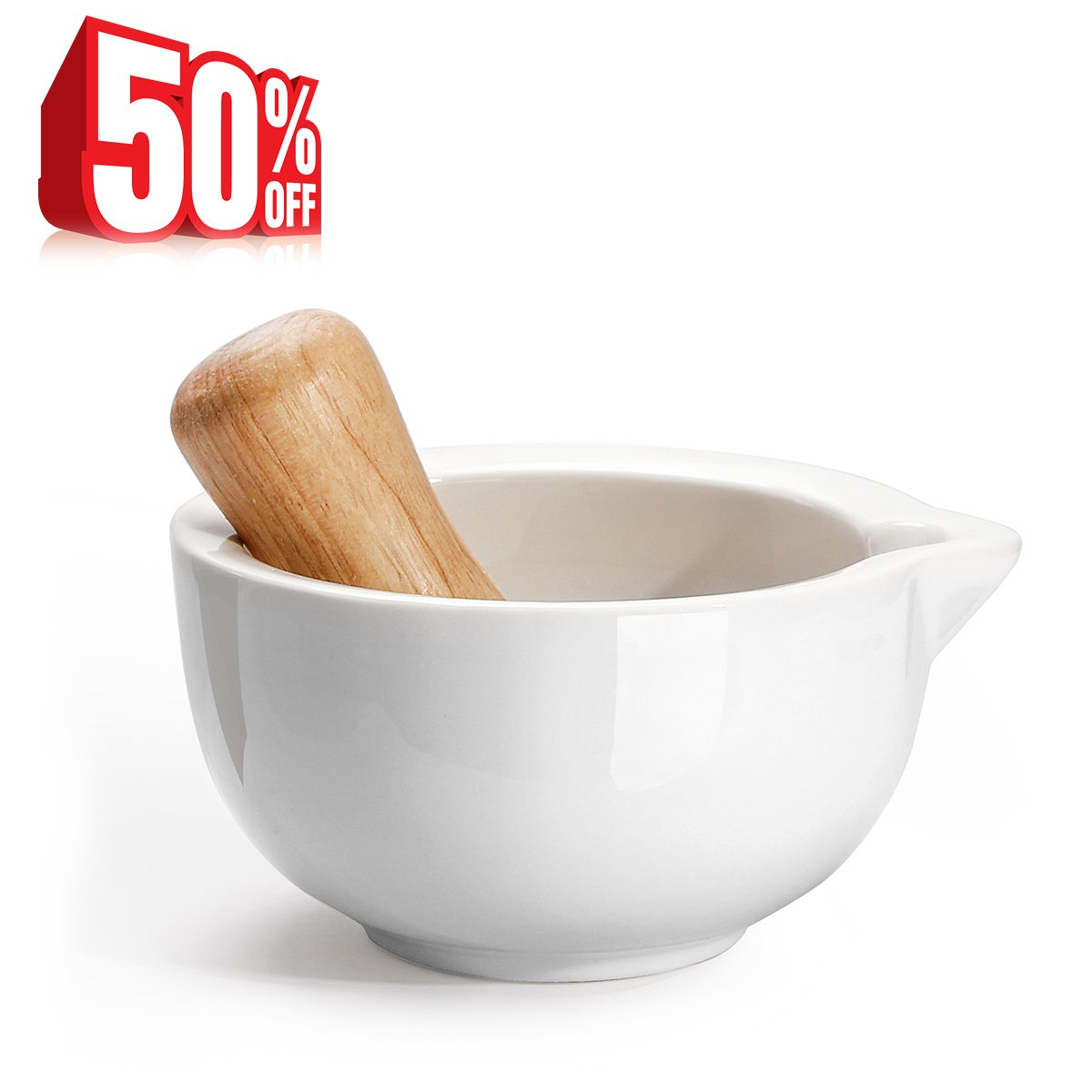 Amazon.com: Sweese 3603 Porcelain Mortar and Pestle Set, with Pour ... for Mortar And Pestle Chemistry  181plt