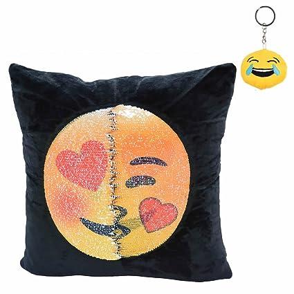 Amazoncom Gootrades Emoji Cushion Pillow 16x16 Magic Reversible