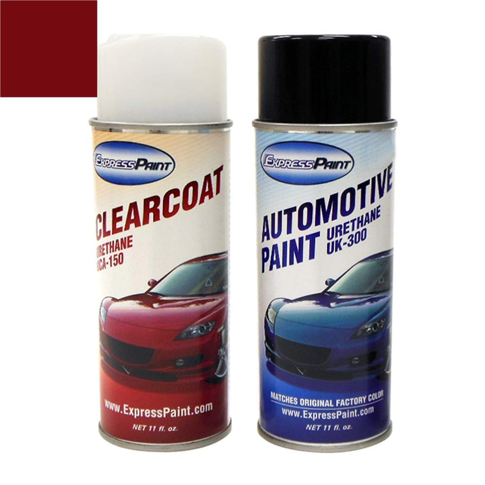 ExpressPaint Aerosol - Automotive Touch-up Paint for Honda Odyssey - Dark Cherry Pearl Clearcoat R-529P - Basic Package