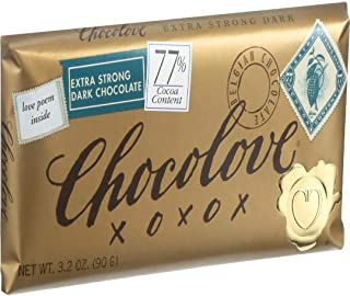 product image for Chocolove Xoxox Extra Strong Dark Chocolate Bar, 3.2 Ounce -- 144 per case