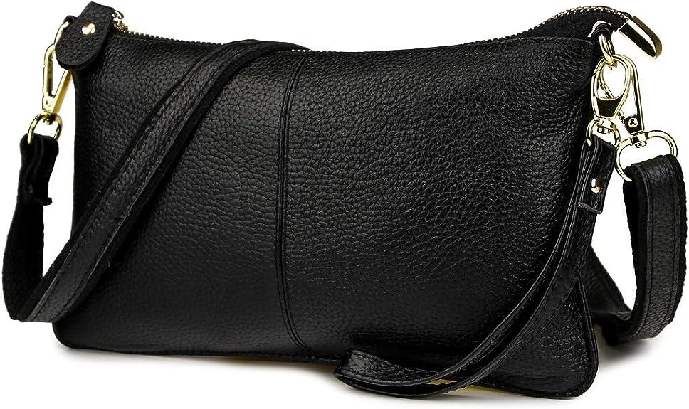 Artwell Women Genuine Leather Clutch Handbag Crossbody Shoulder/Wristlet Purse for Party Wedding Shopping