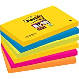Post-it Super Sticky Lot de 6 Blocs de Notes repositionnables 76x127 mm RIO