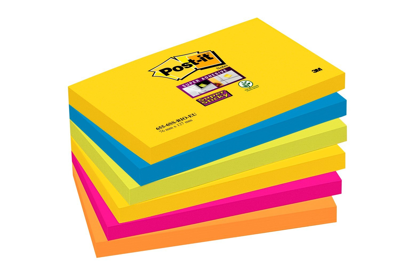 Lot de 12 Blocs Post-It Note Jaune Pastel 76 x 76 mm