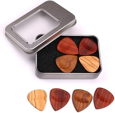 alsu3luy02Ld - Juego de 4 púas de madera para bajo o guitarra con ...