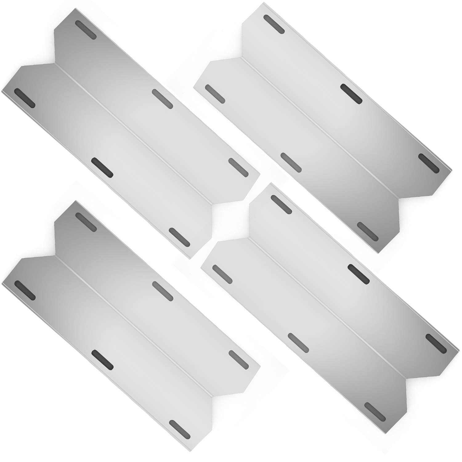 Hongso SPA231 (4-Pack) Stainless Steel BBQ Gas Grill Heat Plate, Heat Shield, Heat Tent, Burner Cover, Vaporizor Bar, and Flavorizer Bar for Costco Kirland, Jenn-air, Nexgrill, Lowes (17 3/4 by Hongso
