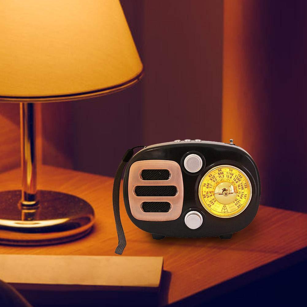 sweet dream Vintage Radio, Retro Bluetooth Speaker, Multi-Function FM Radio, AM FM SW Shortwave Bluetooth Radio Support TF Card MP3 Player, Strong Bass Enhancement by sweet dream (Image #5)