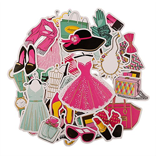 FaCraft Scrapbooking Ephemeras and Die Cuts (50 pcs Girls,Fashion)