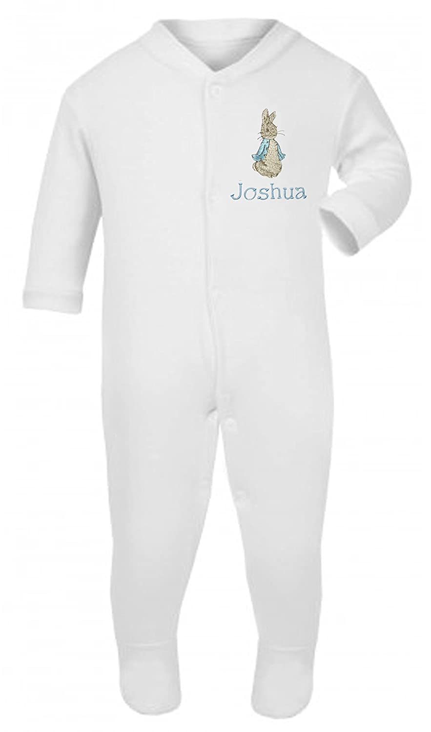 Boys Personalised Peter The Rabbit Baby Grow/Sleepsuit - Now Available in Five Sizes Sew Sew Special
