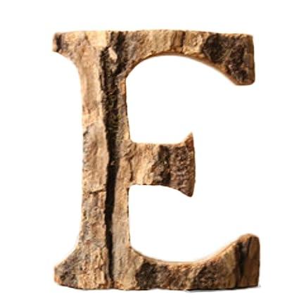 Gespout Vintage Massivholzrinde Bois Anglais Lettre Lettres