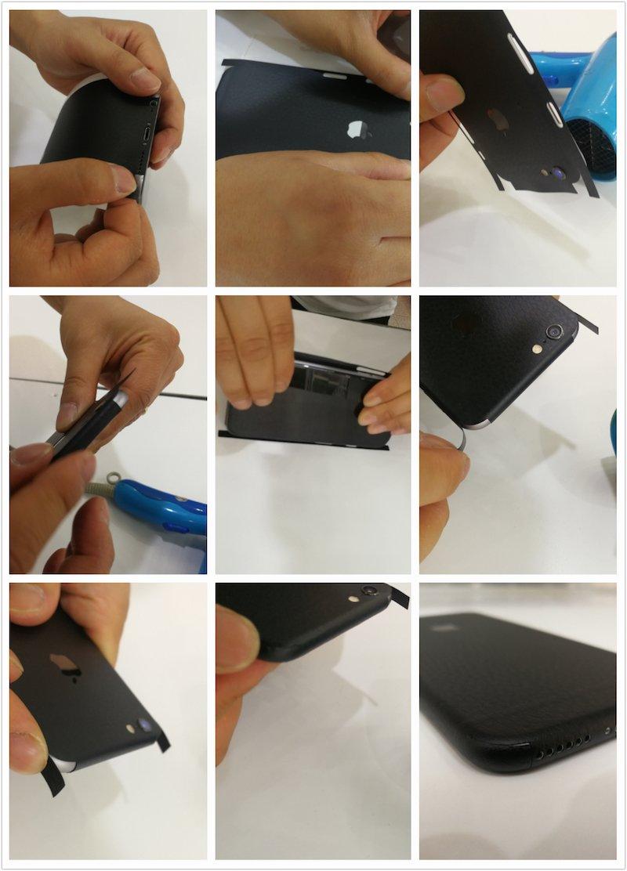 iPhone 6s, Bianco Non Custodia Cover ,Smartphone Wrapping Ultra Sottile e Resistente alle Impronte Digitali Caso IDTB SKINS Adesivi Skin Sticker Pellicola