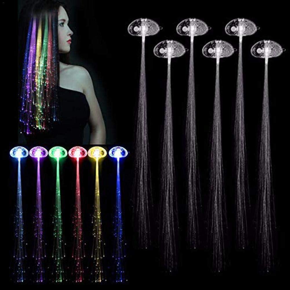 Miyaer 6 ST/ÜCKE LED Lichter Haar Multi-Color Light-Up Fiber Optic LED Haarspangen Clip f/ür Party Bar Tanzen constructive