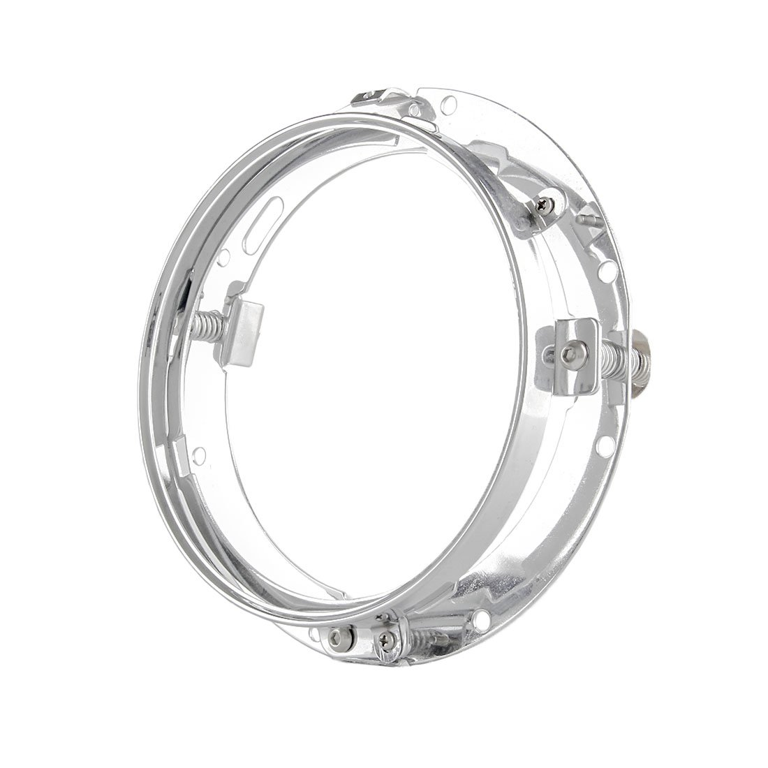 7 inch Round LED Daymaker Projector Headlight Trim Ring Mounting Bracket for Harley Davidson Headlight//Street Glide Black