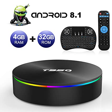 Android TV Box, T95Q Android 8.1 4GB RAM/32GB ROM Amlogic S905X2 Quad Core