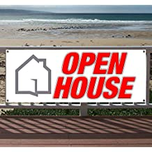 OPEN HOUSE 13 oz heavy duty vinyl banner sign with metal grommets, new, store, advertising, flag, (many sizes available)
