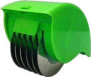 Vegetable Slicer Cutter and Chopper Hand-Powered Food Chopper Processor Roller Slicer