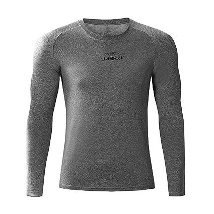 Equipo de entrenamiento deportivo para hombre Equipo superior Muscle Slim Top, Compresión de hombre Camisa