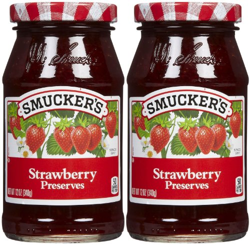Smucker's Strawberry Preserves, 12 oz, 2 pk