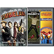 Zombieland + Project X & Beerfest Super Cool Comedy Set 3 Movie Bundle