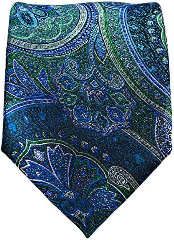 Galapagos Green and Blue Silk Tie and Pocket Square . Paul Malone Red Line