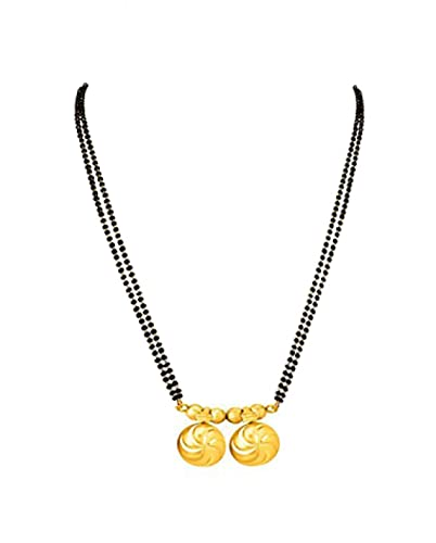 Bfc Marathi Designer 22k Gold Plated Copper Wari Mangalsutra For Women