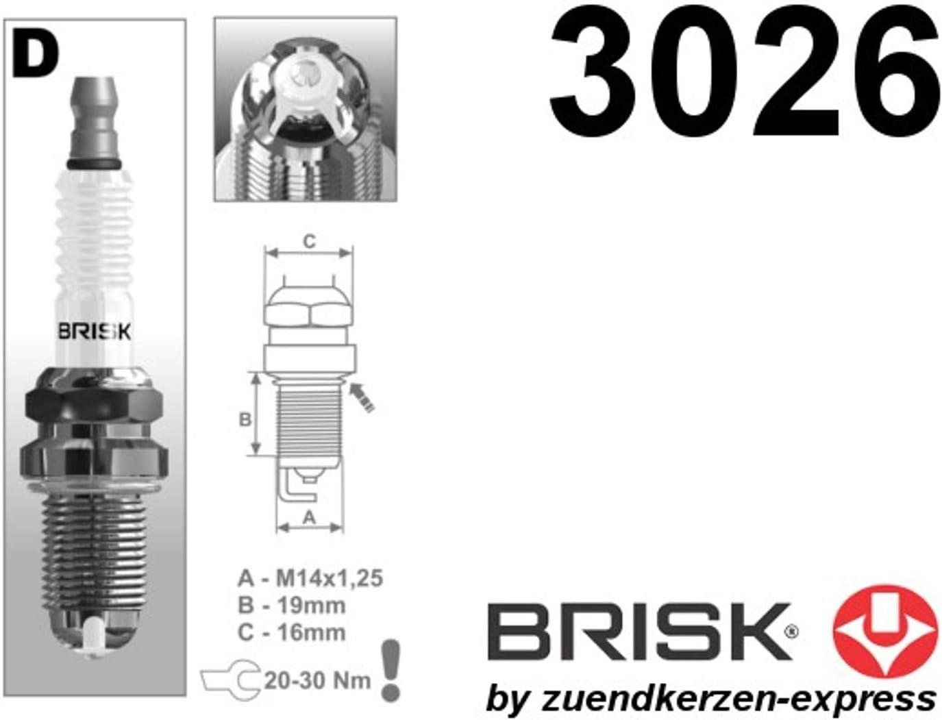 Brisk Premium Racing Dor15lgs 3026 Zündkerzen 6 Stück Auto