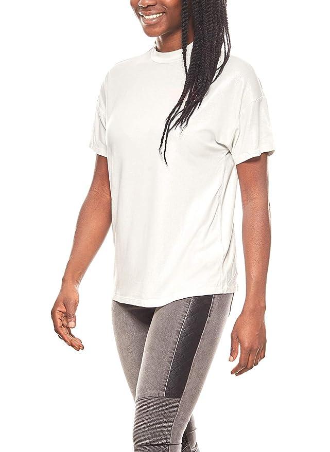 7e8a2110861363 Aniston Shirt edles Damen T-Shirt mit Glanzoptik Kurzarm Silber  Amazon.de   Bekleidung