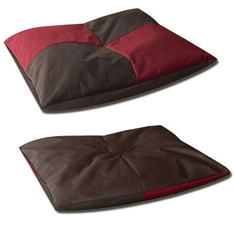 BedDog BONA 2en1 rojo/negro XL aprox. 80x65cm colchón para perro, 6 colores